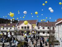 2017.04.01. - Luftballons Hommage Papst em. Benedikt XVI (1)