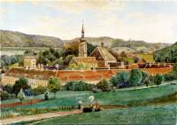 406-1909 - Stift Heiligenkreuz, Aquarell von Erwin Pendel